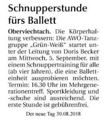 Ballett - Schnuppertraining