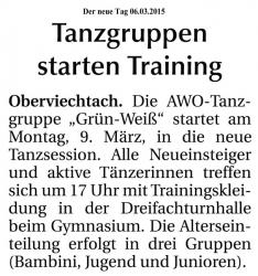 Trainingsstart